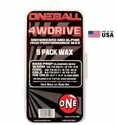 Oneball Snow Wax 4WD 5 Pack